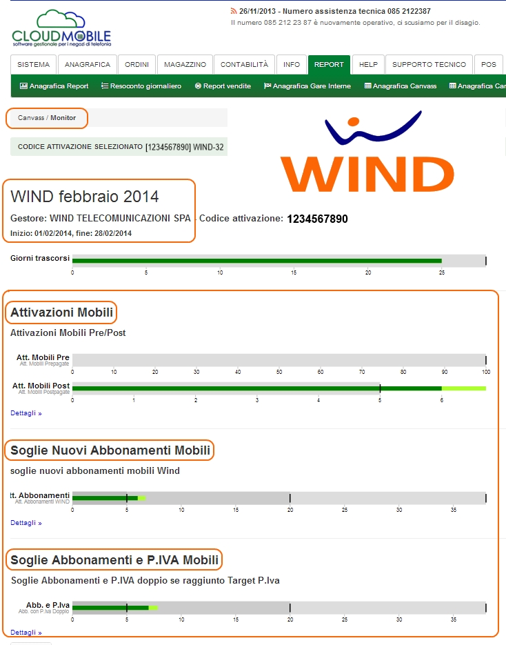 canvass wind monitor pista gara