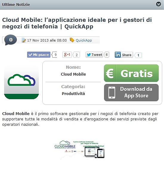 iOS iphone ipad gestionale telefonia cloud mobile